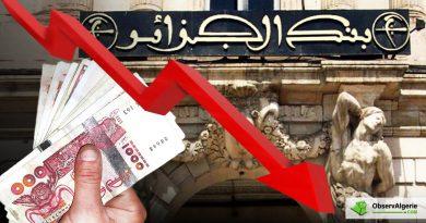 Le dinar algérien continue sa chute vertigineuse face aux principales devises
